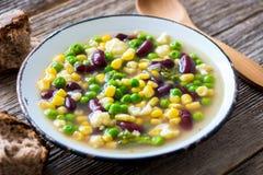 Fresh vegetable soup Stock Photo