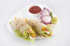 Fresh Vegetable Spring  Roll - Burrito Royalty Free Stock Photography