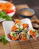 Fresh Vegetable Spring Rolls Stock Photography