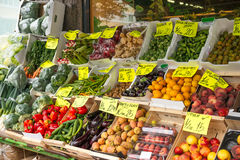 Fresh vegetable stall Royalty Free Stock Photo