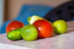 Fresh vegetable on table Stock Photos