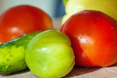 Fresh vegetable on table Royalty Free Stock Images