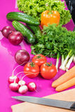 Fresh vegetable on table Royalty Free Stock Photography