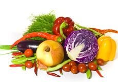 Fresh vegetable variety. Stock Photos