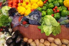 Fresh vegetable variety stock images