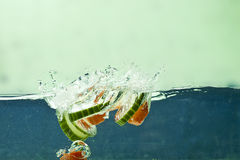 Fresh vegetable in water Royalty Free Stock Photos