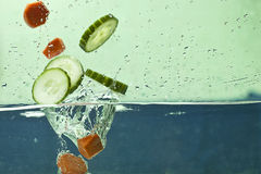 Fresh vegetable in water Stock Images