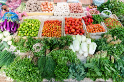 Fresh vegetable in wet market Stock Image