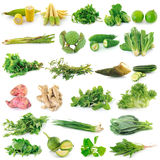 Fresh vegetable on white background Stock Photos
