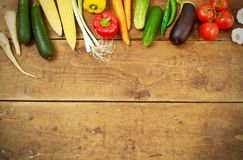 Fresh vegetable from above royalty free stock photography