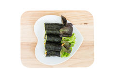 Fresh vegetable wrapped with seaweed sheet Royalty Free Stock Photo