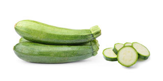 Fresh vegetable zucchini  on white background Royalty Free Stock Photography
