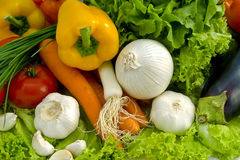 Fresh vegetables. Lot of fresh colour vegetables royalty free stock photography