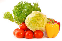 Fresh vegetables. Isolated on white background Stock Photo