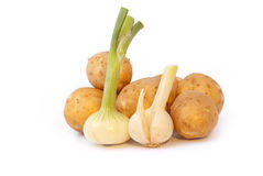 Fresh vegetables. Isolated on white background Royalty Free Stock Image