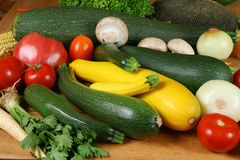 Fresh vegetables. Fresh vegetable on the wooden board. Organic, healthy food Stock Photos