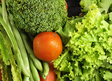 Fresh food for diet. Fresh vegetables, source of energy and vitamins Royalty Free Stock Images