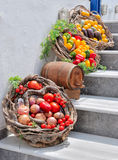 Fresh vegetables. Some different fresh vegetables on the ground royalty free stock images