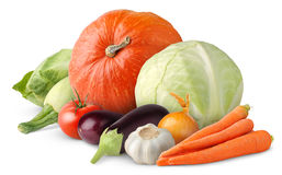 Isolated mixed vegetables Royalty Free Stock Images