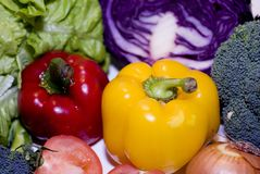 Fresh vegetables. A lot of fresh vegetables Stock Photo