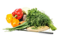 Fresh vegetables. On the white background, texture stock images