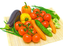 Fresh Vegetables. Close-up on a white background Royalty Free Stock Image