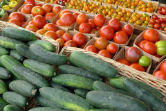 Fresh Vegetables. Assorted fresh vegetables on display Stock Images