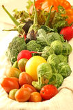 Fresh Vegetables. Display of fresh and colorful vegetables Stock Photo