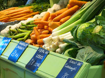 Fresh Vegetables. On sale in a farm shop Royalty Free Stock Photography