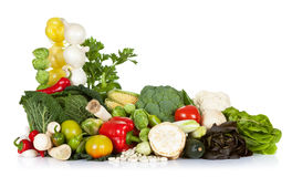 Fresh Vegetables. Fresh raw vegetables composition on white background Stock Images