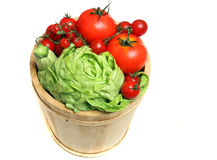 Fresh vegetables. Diferents fresh vegetables on wooden basket with drops Stock Photos