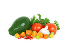 Fresh vegetables. On a white background Stock Photo
