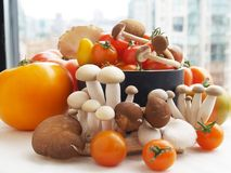Fresh vegetables. A medley of fresh vegetables from a local market Stock Photos
