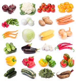 Fresh vegetables. Image set of fresh ripe vegetables on white background. See larger versions of each image separately in my portfolio