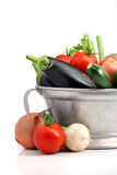 Fresh vegetables. Close up of different vegetables over white Royalty Free Stock Images