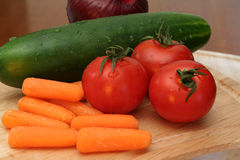 Fresh Vegetables. Are ready to eat Stock Image