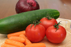 Fresh Vegetables. Are ready to eat Royalty Free Stock Images