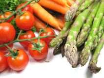 Fresh vegetables. Some fresh vegetables from the market royalty free stock photo