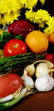 Fresh vegetables. Group of cooking ingredients Stock Photos