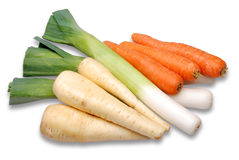 Fresh vegetables. Freshly picked vegetables on a white background royalty free stock image