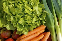 Fresh vegetables. Close up of fresh fruits and vegetables royalty free stock images