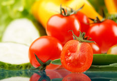 Fresh vegetables. Fresh vegetables on the table Royalty Free Stock Photography