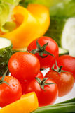 Fresh vegetables. Fresh rich colored spring vegetables Royalty Free Stock Image