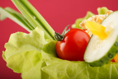 Fresh vegetables. In the cup Stock Photography