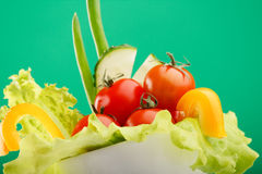 Fresh vegetables. In the cup Royalty Free Stock Photography