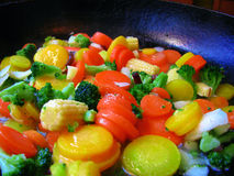 Fresh vegetables. In a pan Stock Photo