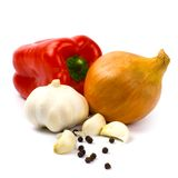 Fresh Vegetables And Black Pepper Royalty Free Stock Photos
