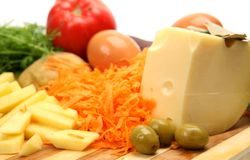 Fresh Vegetables And Cheese Royalty Free Stock Images