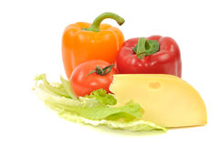 Fresh Vegetables And Cheese Stock Image