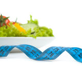 Fresh Vegetables And Measuring Tape Stock Photos